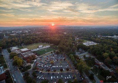 Lenoir-Rhyne Univervity | Aerial | Evening sunset